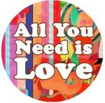 ALL YOU NEED IS LOVE (jelvény, 2,5 cm)