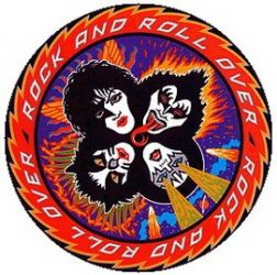 KISS: Rock And Roll Over (jelvény, 2,5 cm)