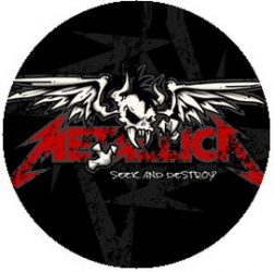 METALLICA: Seek And Destroy (jelvény, 2,5 cm)