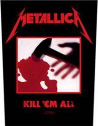 METALLICA: Kill 'em All (hátfelvarró / backpatch)