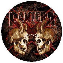 PANTERA: Double Skull (jelvény, 2,5 cm)