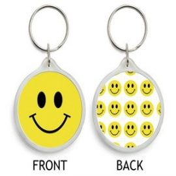 SMILEY (kulcstartó, műanyag)