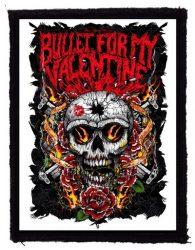 BULLET FOR MY VALENTINE: Skull Roses (75x95) (felvarró)