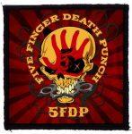 FIVE FINGER DEATH PUNCH: 5FDP Skull (95x95) (felvarró)