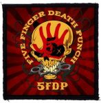 FIVE FINGER DEATH PUNCH: 5FDP Skull (95x95) (felvarró)