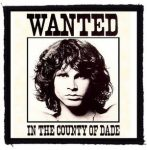 JIM MORRISON: Wanted (95x95) (felvarró)