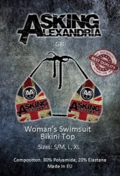 ASKING ALEXANDRIA: GB (bikini top) (akciós!)