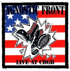 AGNOSTIC FRONT: Live At CBGB (95x95) (felvarró)