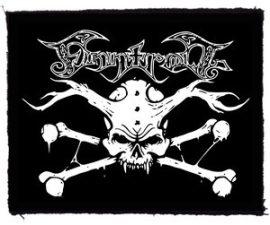 FINNTROLL: Skull logo (95x75) (felvarró)
