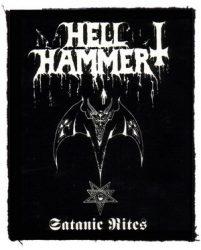 HELLHAMMER: Satanic Rites (75x95) (felvarró)
