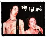 SEX PISTOLS: No Future (95x75) (felvarró)