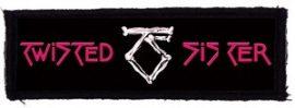 TWISTED SISTER: Logo (120x35) (felvarró)