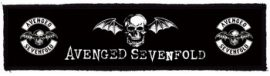 AVENGED SEVENFOLD: Logo Superstrip (20 x 5 cm) (felvarró)
