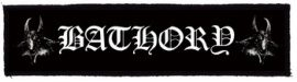 BATHORY: Logo Superstrip (20 x 5 cm) (felvarró)