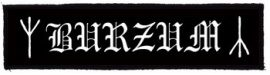 BURZUM: Logo Superstrip (20 x 5 cm) (felvarró)