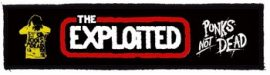 EXPLOITED: Logo Punks Not Dead Superstrip (20 x 5 cm) (felvarró)
