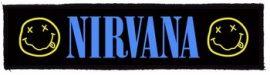 NIRVANA: Logo Superstrip (20 x 5 cm) (felvarró)