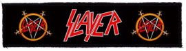 SLAYER: Logo Superstrip (20 x 5 cm) (felvarró)