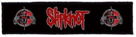 SLIPKNOT: Logo Superstrip (20 x 5 cm) (felvarró)
