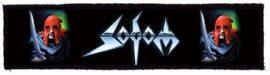 SODOM: Logo Superstrip (20 x 5 cm) (felvarró)