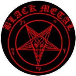 BLACK METAL (jelvény, 2,5 cm)