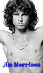 JIM MORRISON: Photo 1968 (zászló, 57x96 cm)
