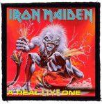 IRON MAIDEN: A Real Live (95x95) (felvarró)