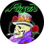 POISON: Smokin' Skull (jelvény, 2,5 cm)