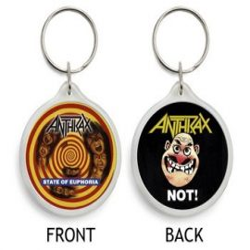 ANTHRAX: State (kulcstartó, műanyag)