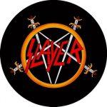 SLAYER: Logo Pentagram (circle, 95 mm) (felvarró)