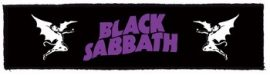 BLACK SABBATH: Logo Superstrip (20 x 5 cm) (felvarró)