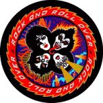 KISS: Rock 'n' Roll Over (circle) (95x95) (felvarró)