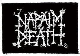 NAPALM DEATH: Logo (95x65) (felvarró)