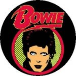 DAVID BOWIE: Bowie (jelvény, 2,5 cm)
