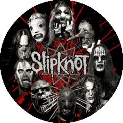 SLIPKNOT: Circle Masks (jelvény, 2,5 cm)