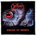 OBITUARY: Cause Of Death (95x95) (felvarró)