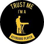 BILLENYTŰS: Trust Me I'm A Keyboard Player (jelvény, 2,5 cm)