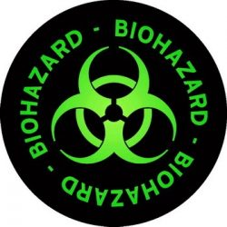 BIOHAZARD: Logo Circle (95x95) (felvarró)