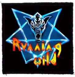 RUNNING WILD: Logo (95x95) (felvarró)