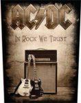 AC/DC: In Rock We Trust (hátfelvarró / backpatch)