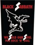 BLACK SABBATH: We Sold Our Soul (hátfelvarró / backpatch)