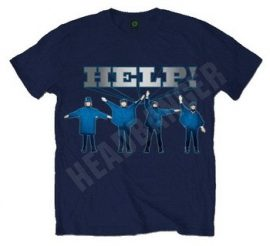 BEATLES: Help! (navy) (póló)