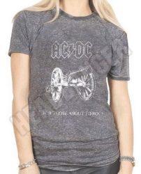 AC/DC: About To Rock (acid wash) (női póló)