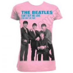 BEATLES: Can't Buy Me Love (pink) (női póló)