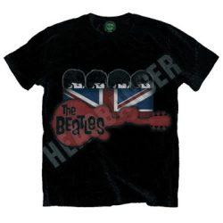 BEATLES: Guitar & Flag (póló)