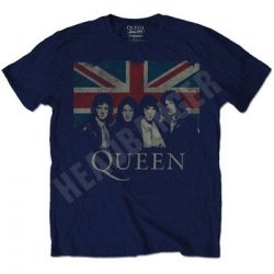 QUEEN: Union Jack (navy) (póló)