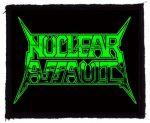 NUCLEAR ASSAULT: Logo (95x75) (felvarró)