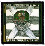 S.O.D.: Speak English (95x95) (felvarró)