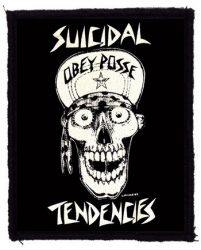 SUICIDAL TENDENCIES: Obey (75x95) (felvarró)
