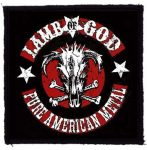 LAMB OF GOD: Pure American Metal (95x95) (felvarró)